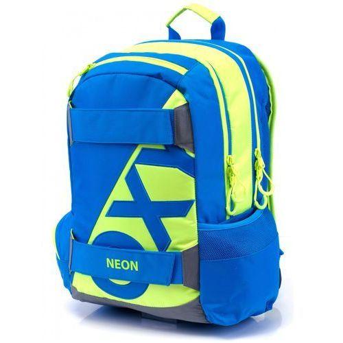 Karton P+P Anatomiczny plecak OXY SPORT Neon Blue, kolor niebieski