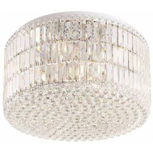 Kryształowa LAMPA sufitowa PUCCINI C0129 Maxlight okrągła OPRAWA plafon glamour crystal przezroczysty, kolor Srebrny