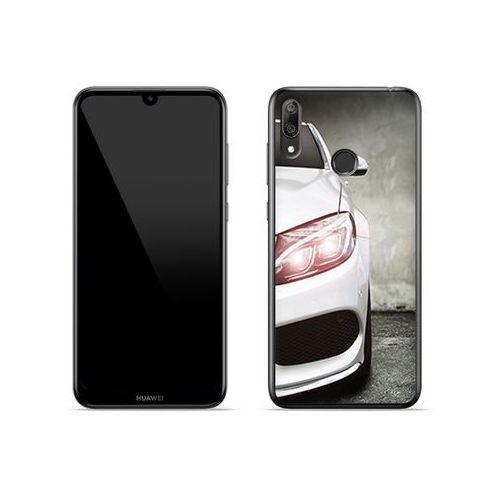 Huawei Y7 (2019) - etui na telefon Foto Case - biały samochód