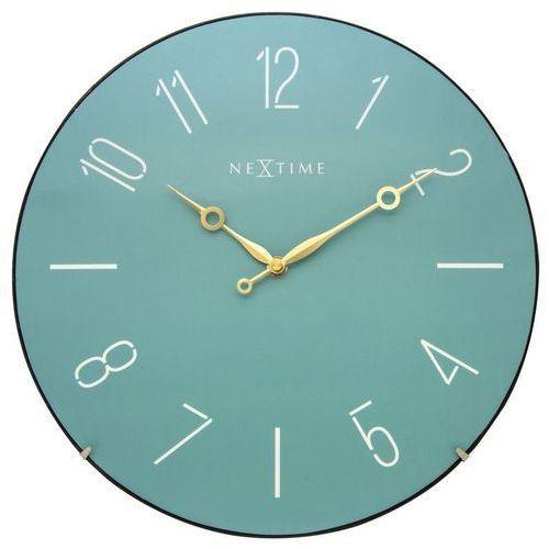 - zegar ścienny trendy dome - turkusowy marki Nextime