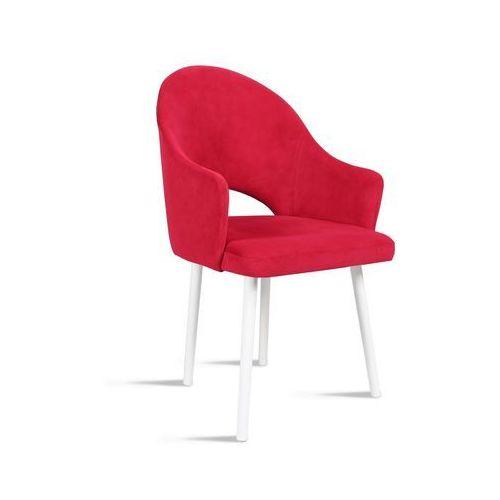 Krzesło BARI czerwony / noga biała / TR9, kolor czerwony