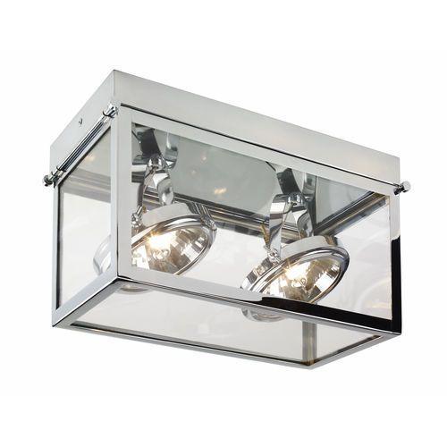 Kaspa Spot lampa sufitowa geo 2 70175203 natynkowa oprawa stropowa nowoczesna regulowana halogen chrom (5902047300592)