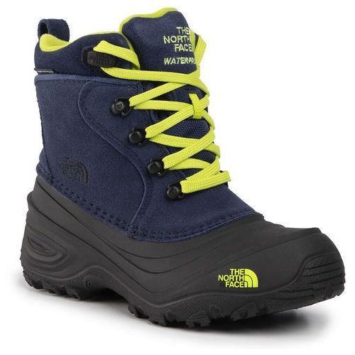 Śniegowce - youth chilkat lace ii nf0a2t5r5uk cosmic blue/lime green marki The north face