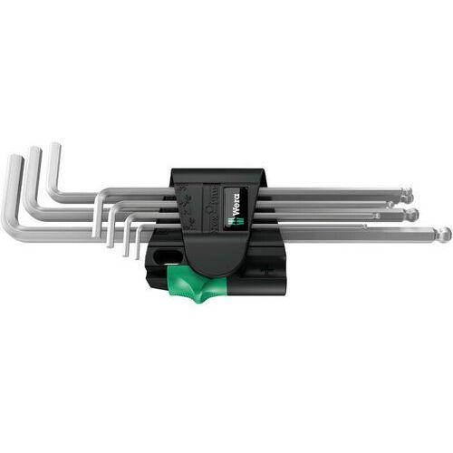 WERA Zestaw 7 kluczy trzpieniowych Hex-Plus z kulką, chromowanych 950 PKL
