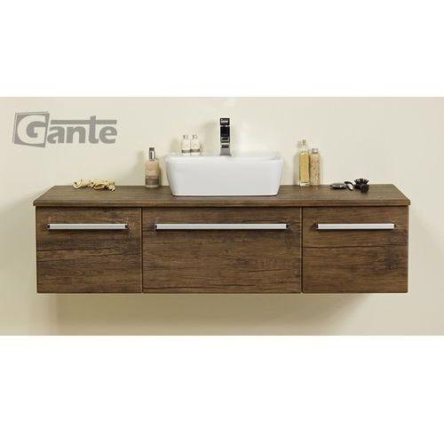 Szafka wisząca z umywalką 140/50c fks seria fokus ad marki Gante