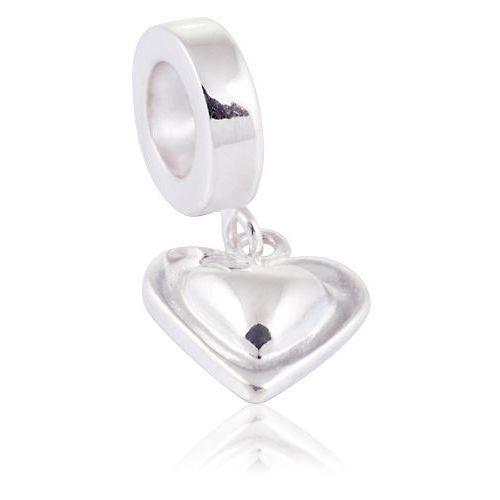 Murrano Charms zawieszka koralik srebrny srebrne serce