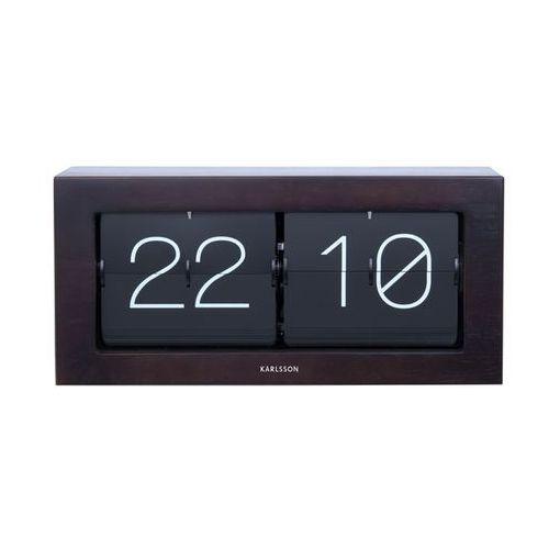Zegar stołowo/ścienny Flip Clock Boxed XL dark wood by Karlsson
