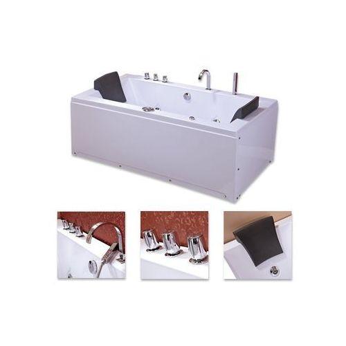 Wanna z systemem hydromasaży 180x90 Ramona + podgrzewacz wody