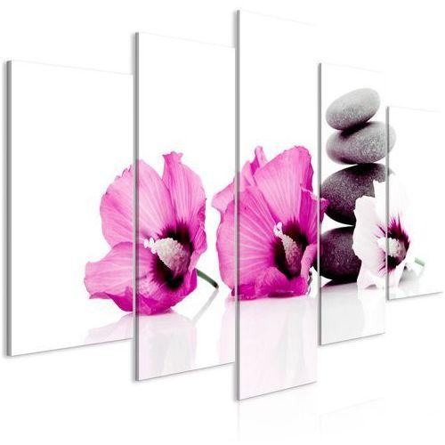 Obraz - spokojne malwy (5-częściowy) szeroki różowy marki Artgeist