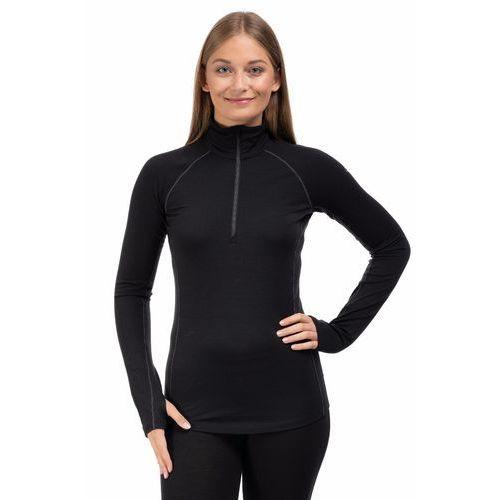 Koszulka damska 200 zone ls half zip women - black/ mineral marki Icebreaker