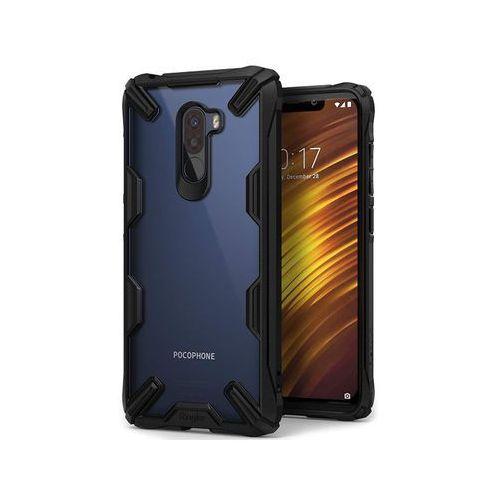 Etui Ringke Fusion X Pocophone F1 Black + Szkło Ringke ID - Czarny