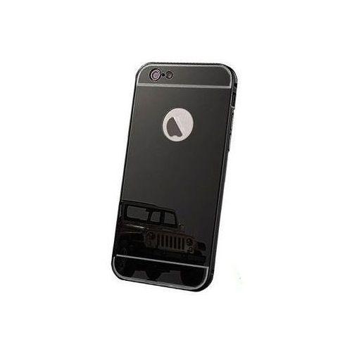 Mirror Bumper Metal Case Czarny   Etui dla Apple iPhone 6 Plus / 6S Plus, kolor czarny