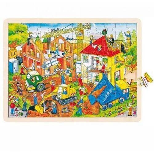 Puzzle motyw budowa 92 el,  57670 marki Goki