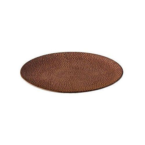 Talerz płytki honeycomb brązowy marki Fine dine