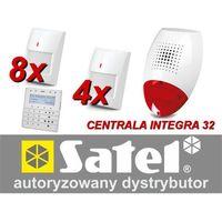 Zestaw alarmowy integra 32, klawiatura sensoryczna, 8 czujników ruchu, 2 x czujniki ruchu dualne, sygnalizator zewnętrzny sp-500 marki Satel