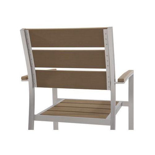 Zestaw do ogrodu 6 krzeseł brązowe vernio marki Beliani