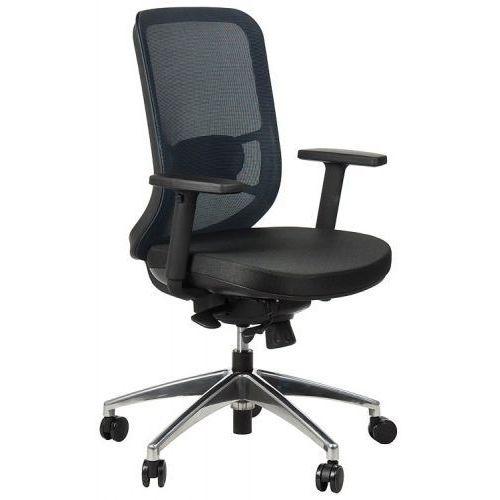 Krzesło obrotowe biurowe z podstawą aluminiową i wysuwem siedziska model GN-310/NIEBIESKI fotel biurowy obrotowy
