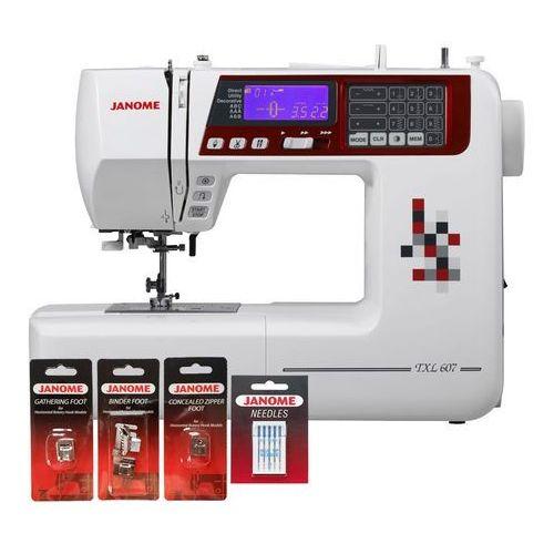 Maszyna do szycia  txl607 (dodatkowe stopki i igły gratis) marki Janome