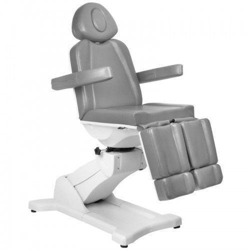 Fotel kosmetyczny elektr. azzurro 869as pedi obrotowy 5 siln. szary marki Activeshop
