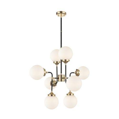 Zuma line riano p0454-08d-sdaa lampa wisząca zwis oprawa 8x40w e27 złota/czarna