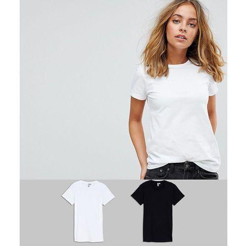 Asos design petite ultimate crew neck t-shirt 2 pack save - multi, Asos petite