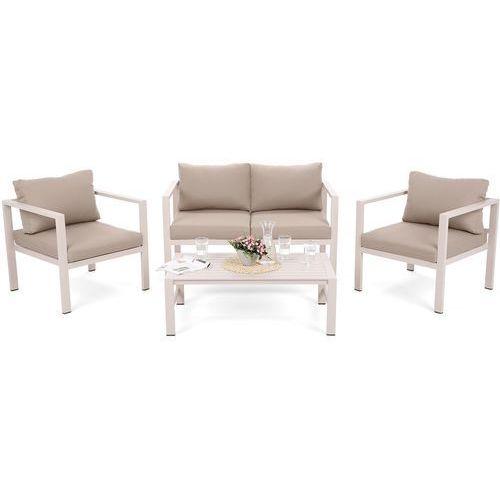 Zestaw mebli aluminiowych stół, krzesła, kanapa pampeluna t marki Home&garden