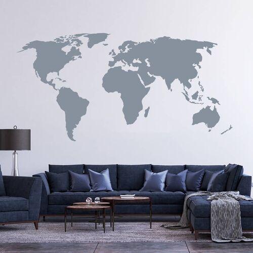 Wally - piękno dekoracji Naklejka na ścianę mapa świata 06
