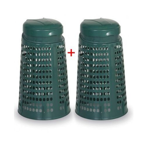 B2b partner Plastikowy kosz na odpadki na worki 120 l - 1+1 gratis