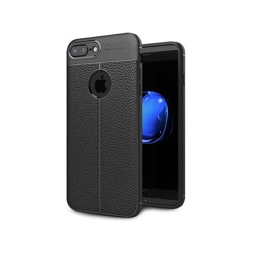 Etui pancerne leather iphone 7/8 plus czarne + szkło marki Alogy