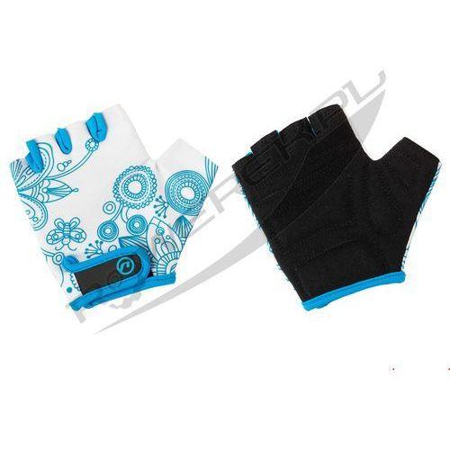 Accent 610-81-22_acc-l/xl rękawiczki dziecięce flowers kids biało-niebieskie l/xl