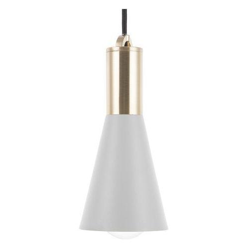 Beliani Lampa wisząca szaro-złota alento (4260586355574)