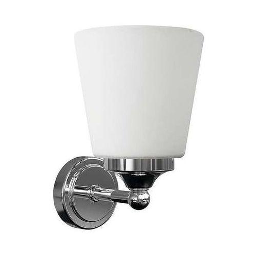 Nowodvorski Kinkiet lampa ścienne bali 9354 klasyczna oprawa szklana do łazienki ip44 chrom biała (5903139935494)