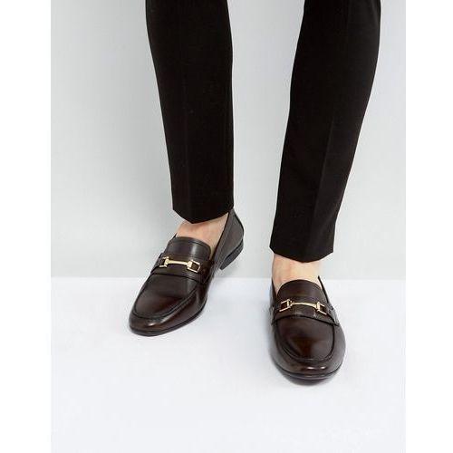 Kg by kurt geiger melton loafers in brown leather - brown, Kg kurt geiger