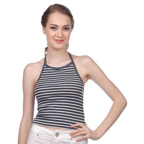 Brave soul koszulka bez rękawów damska silver s niebieski