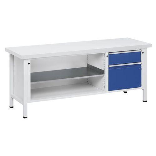 Stół warsztatowy, stabilny, 1 szuflada 180 mm, drzwi 360 mm, blat uniwersalny, c marki Anke werkbänke - anton kessel