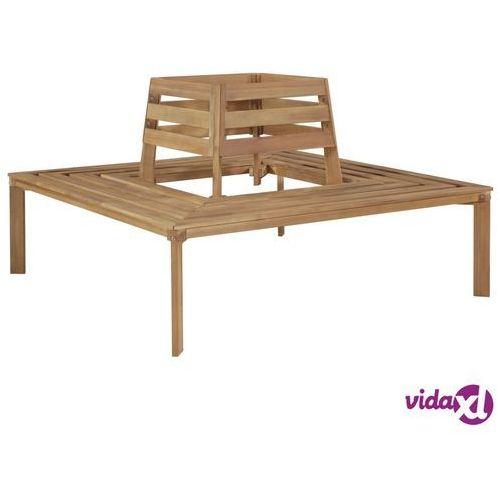 Vidaxl ławka wokół drzewa, 140x140x86 cm, lite drewno akacjowe (8718475614883)