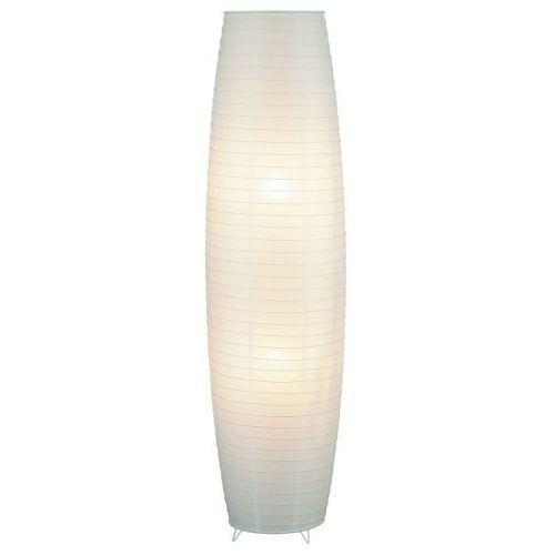 Lampa podłogowa stojąca papierowa myra 2x40w e27 biała 4724 marki Rabalux