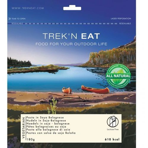Trek'n Eat Sojowy makaron bolognese Żywność kempingowa niebieski Posiłki wegetariańskie (4015753185771)