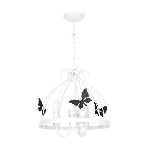 Milagro Lampa wisząca kago mlp 1168 metalowa oprawa dziecięca zwis motylki czarne