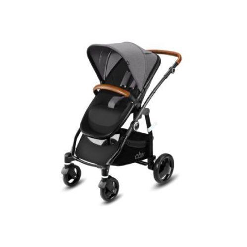 Cbx wózek 2 w 1 leotie lux leather comfy grey - kolor szary