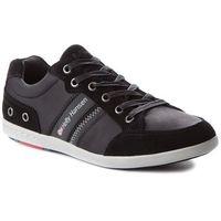 Sneakersy - kordel leather 109-45.990 black/ebony/red/ash grey arctic grey marki Helly hansen