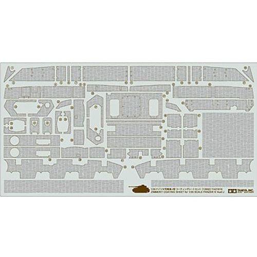 Panzer iv 1/35 zimmerit sheet marki Tamiya