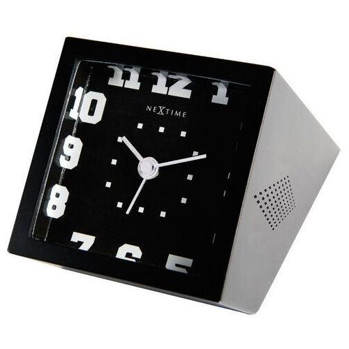 NeXtime - zegar stołowy - Be Square - czarny