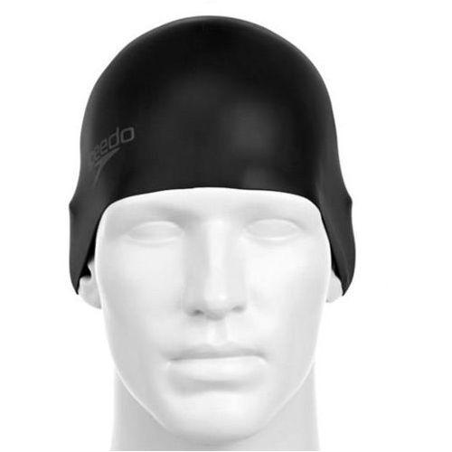 Czepek Speedo Moulded silicone cap black - Czarny (5051746920775)