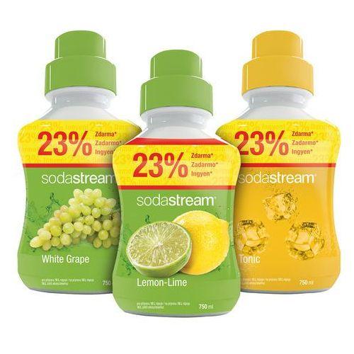 Sodastream  syropy cytrynowy, winogronowy i tonic 750 ml (8590669179527)