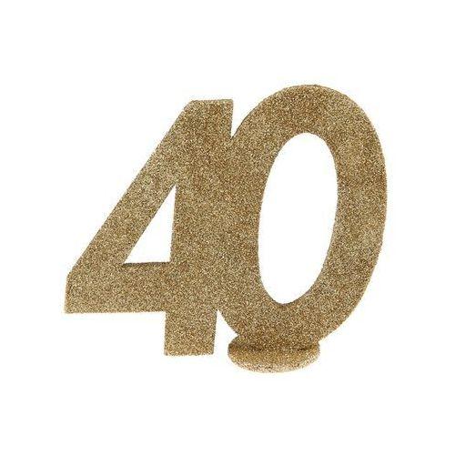 Dekoracja stołu Czterdziestka złota 40-stka - 1 szt. (3660380006862)