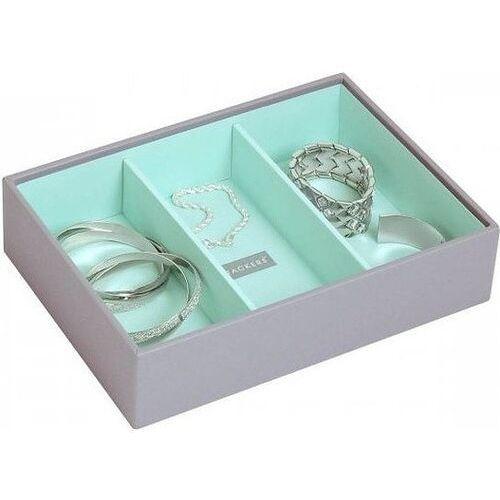 Stackers Pudełko na biżuterię 3 komorowe classic szaro-miętowe
