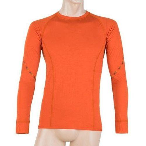 Sensor merino air men's t-shirt long sleeves pomarańczowa xl 2018-2019