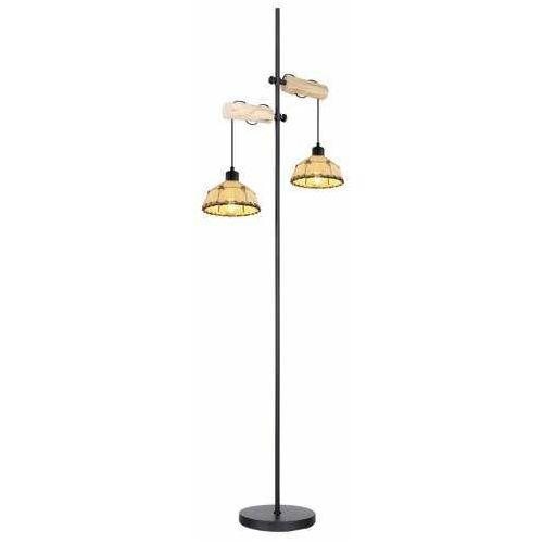 Globo Rex 15442S lampa stojąca podłogowa 2x60W E27 czarna/beżowa (9007371405084)