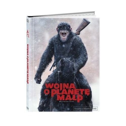 Imperial cinepix Wojna o planetę małp (książka +dvd) - matt reeves. darmowa dostawa do kiosku ruchu od 24,99zł